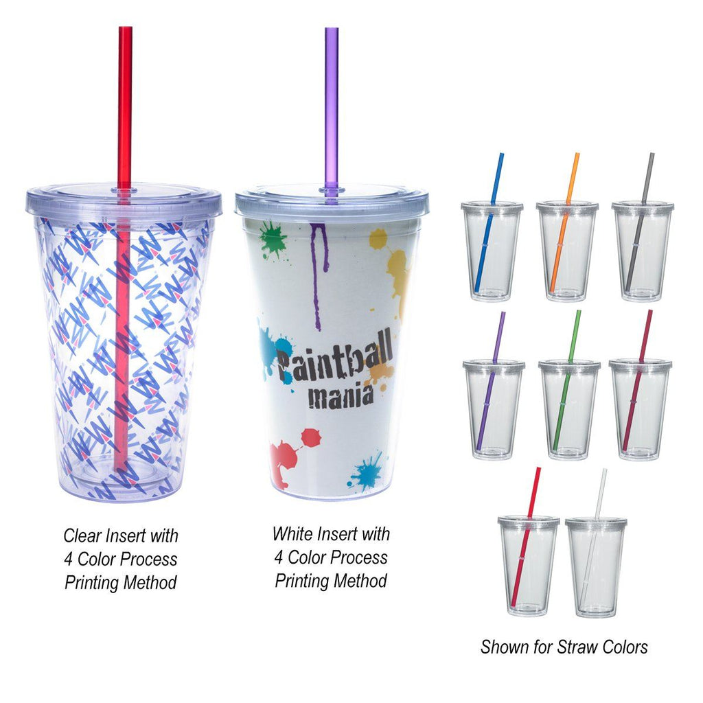 16 Oz. Newport Acrylic Tumbler With Insert Drinkware Hit Promotional Products