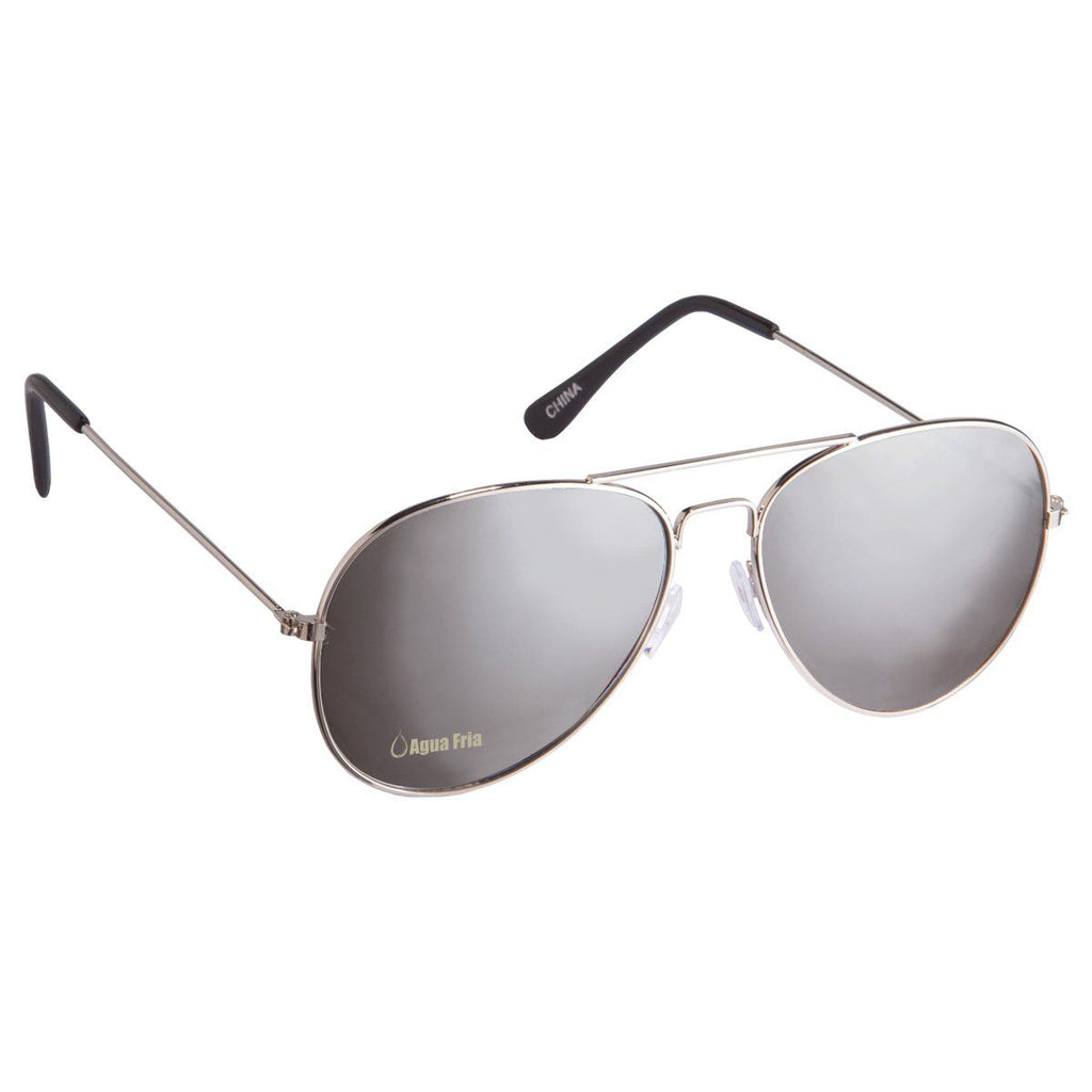 Color Mirrored Aviator Sunglasses Sunglasses Hit Promotional Products Silver With Silver
