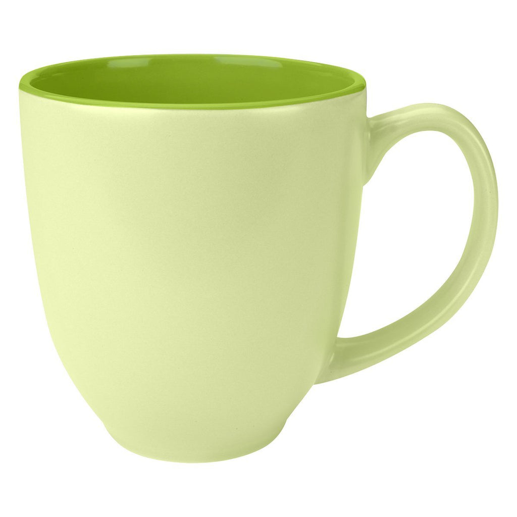 14 Oz. Sorbet Bistro Mug Ceramic Mugs Hit Promotional Products Light Green