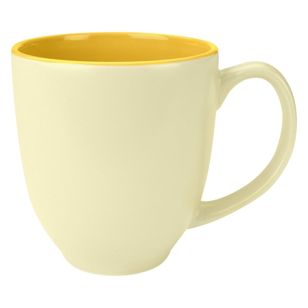 14 Oz. Sorbet Bistro Mug Ceramic Mugs Hit Promotional Products Yellow