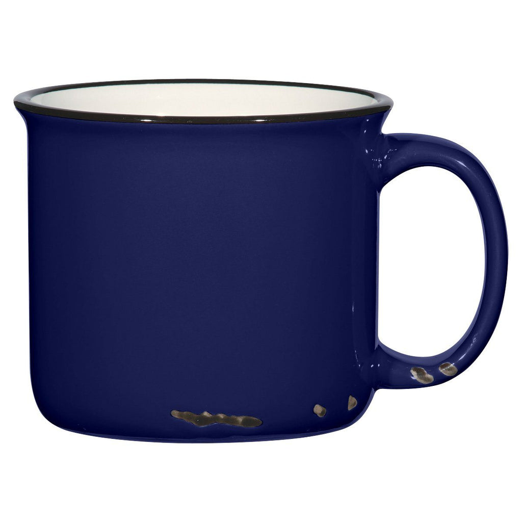 15 Oz. Distressed Mug Ceramic Mugs Hit Promotional Products Cobalt Blue