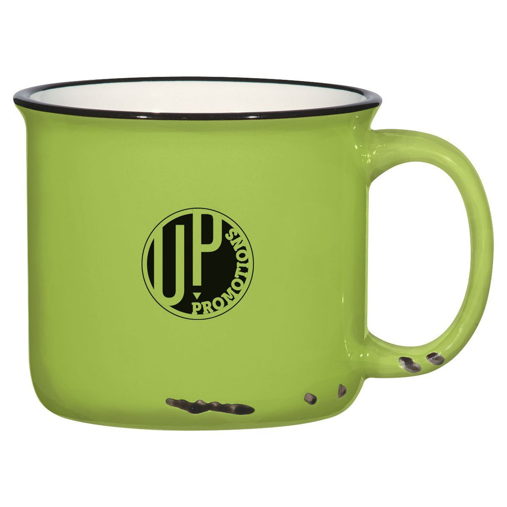 15 Oz. Distressed Mug Ceramic Mugs Hit Promotional Products Lime