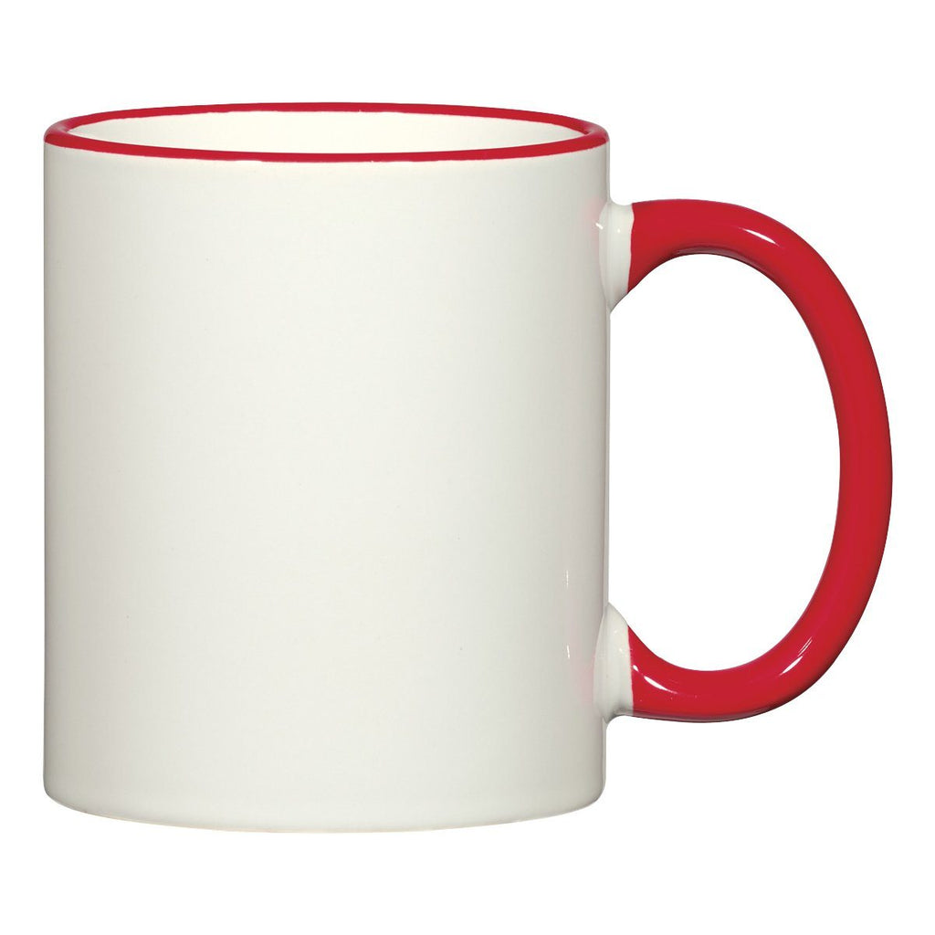 11 Oz. Colorful Trim Mug