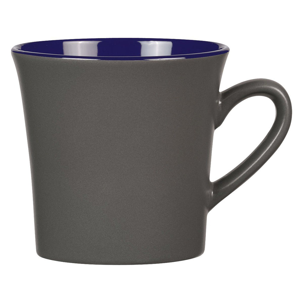 12 Oz. Two-Tone Unity Mug Ceramic Mugs Hit Promotional Products Gray With Cobalt
