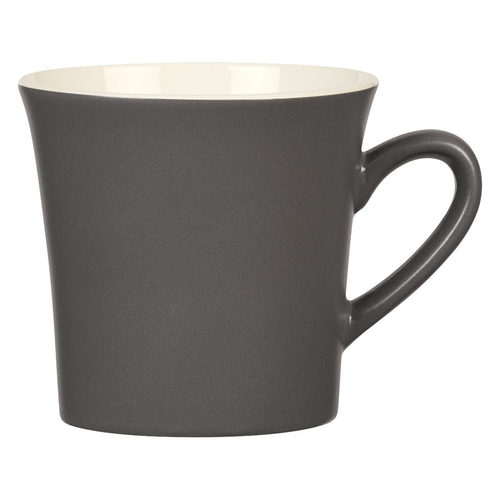 12 Oz. Two-Tone Unity Mug Ceramic Mugs Hit Promotional Products Gray With Orange