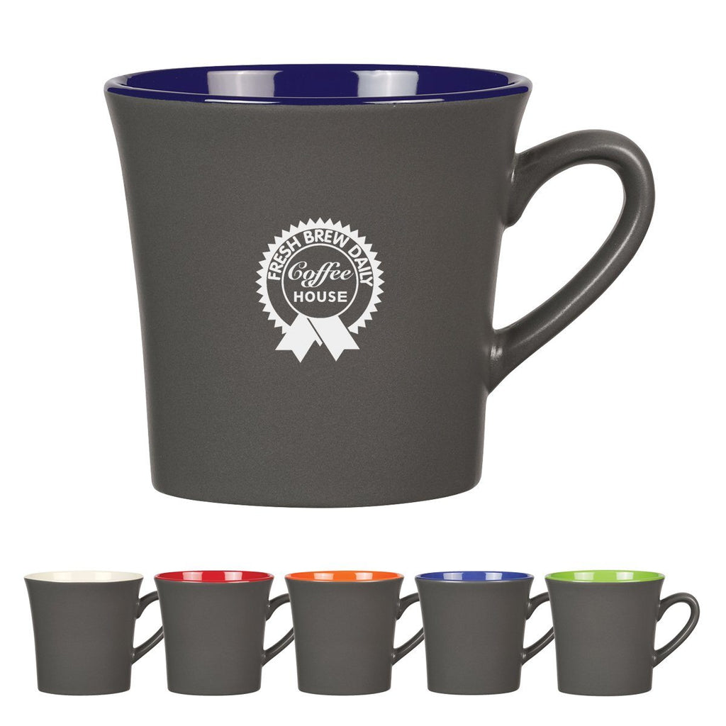12 Oz. Two-Tone Unity Mug Ceramic Mugs Hit Promotional Products Gray With White