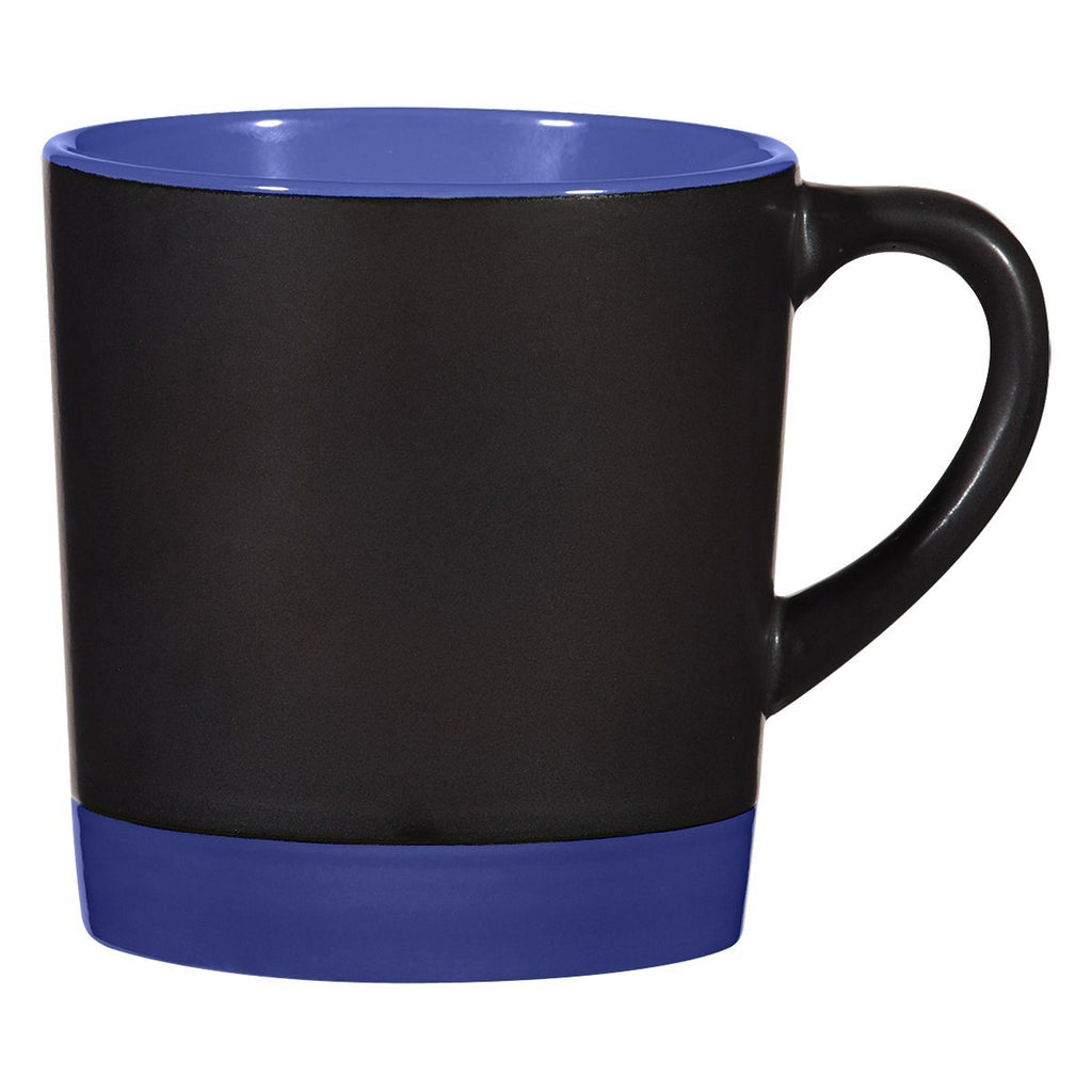 12 Oz. Two-Tone Americano Mug Ceramic Mugs Hit Promotional Products Black With Ocn