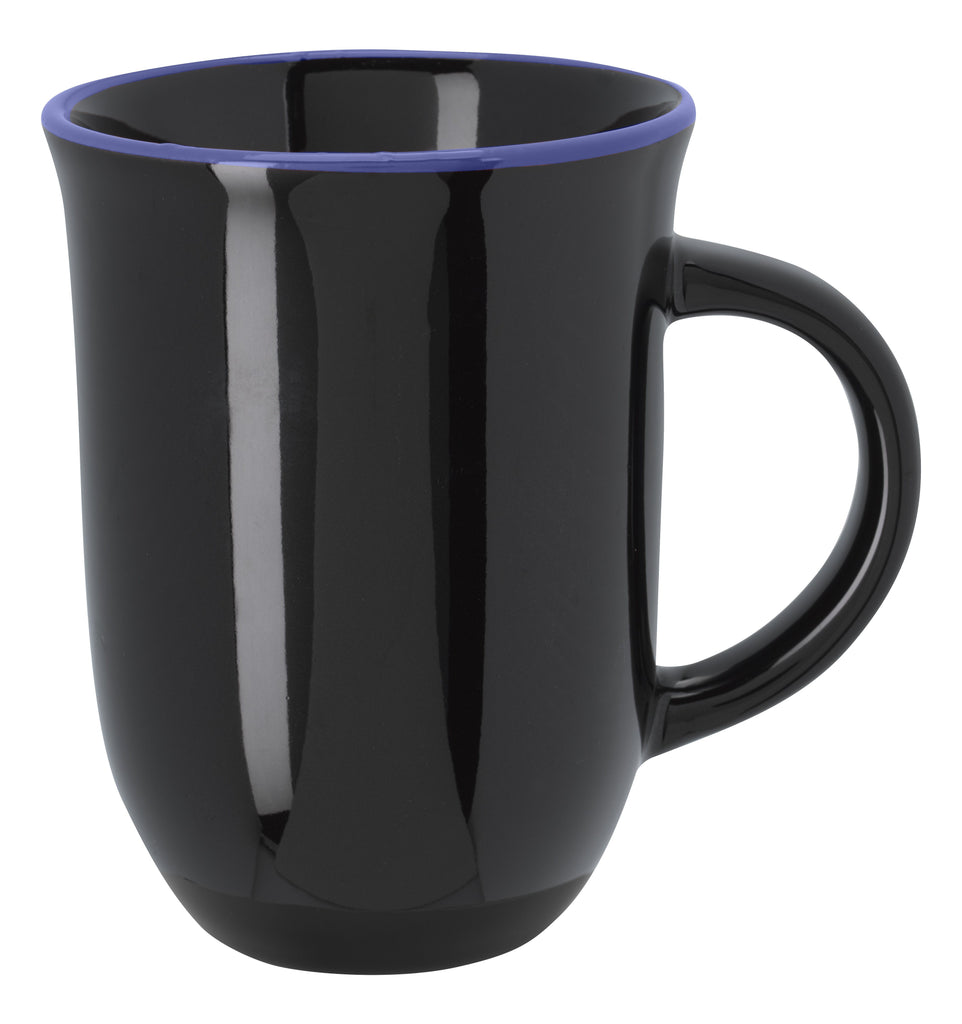 12 Oz. Vienna Ceramic Mug Ceramic Mugs Hit Promotional Products Black With Ocn