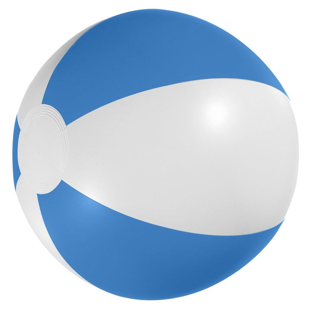 "12"" Beach Ball Plush & Novelties Hit Promotional Products White With Blue"