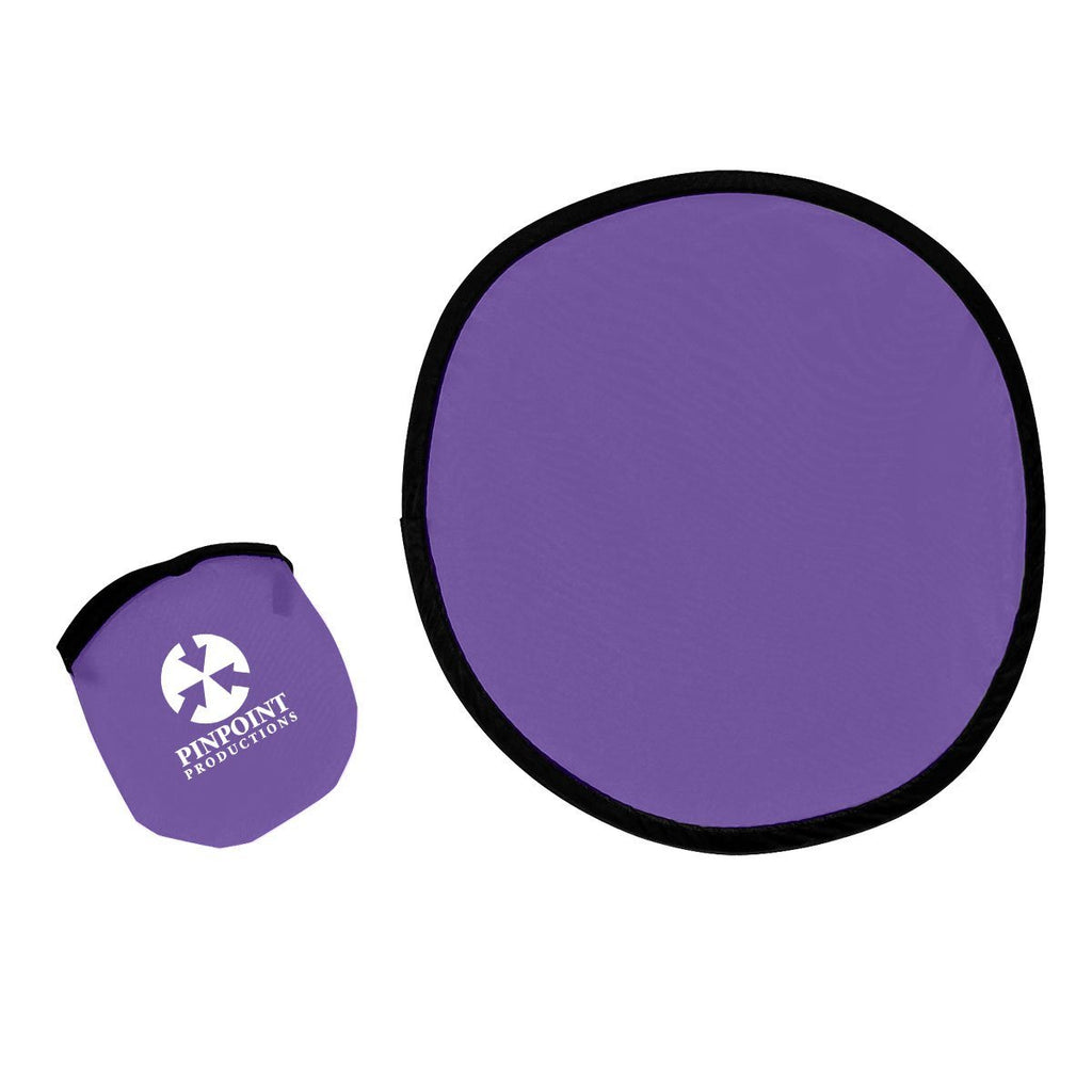 "10"" Flying Disk With Matching Pouch Plush & Novelties Hit Promotional Products Purple"