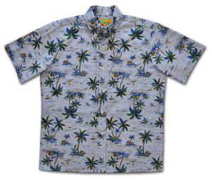 Tropical Oxford Traditional Button Front