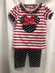 Minnie and Stripes 2 pc Outfit