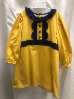 Mustard and Navy Dress