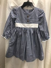 Navy and White Gingham Dress