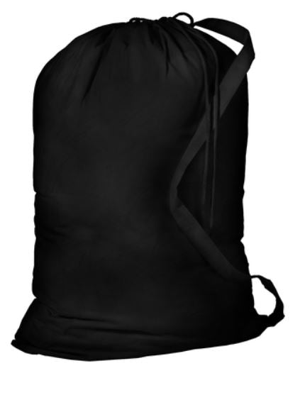 Black Laundry Bag with Personalization