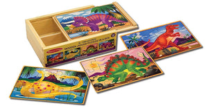 Melissa & Doug Wooden Jigsaw Puzzles in a Box - Dinosaur