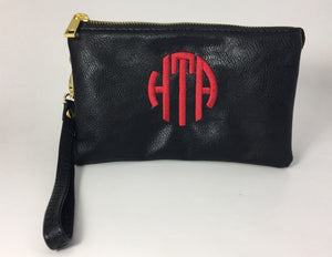 Small Clutch Purse with Monogram