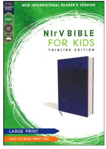NIrV Large-Print Bible for Kids - Blue