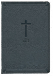 NKJV Value Thinline Bible Large Print - Charcoal