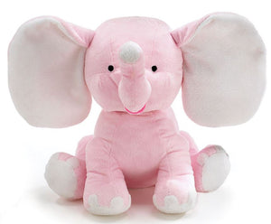 Plush Elephant - Pink/Blue