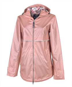 Women's Charles River Rain Jacket - With Monogram - Printed Lining