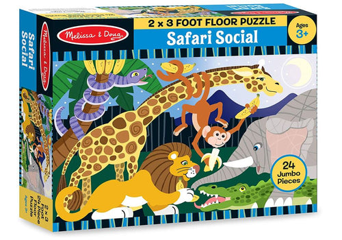 Melissa & Doug 24pc Safari Social Floor Puzzle