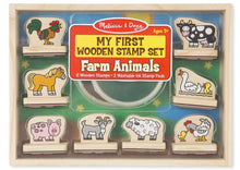 Load image into Gallery viewer, Melissa & Doug Wooden Stamp Set