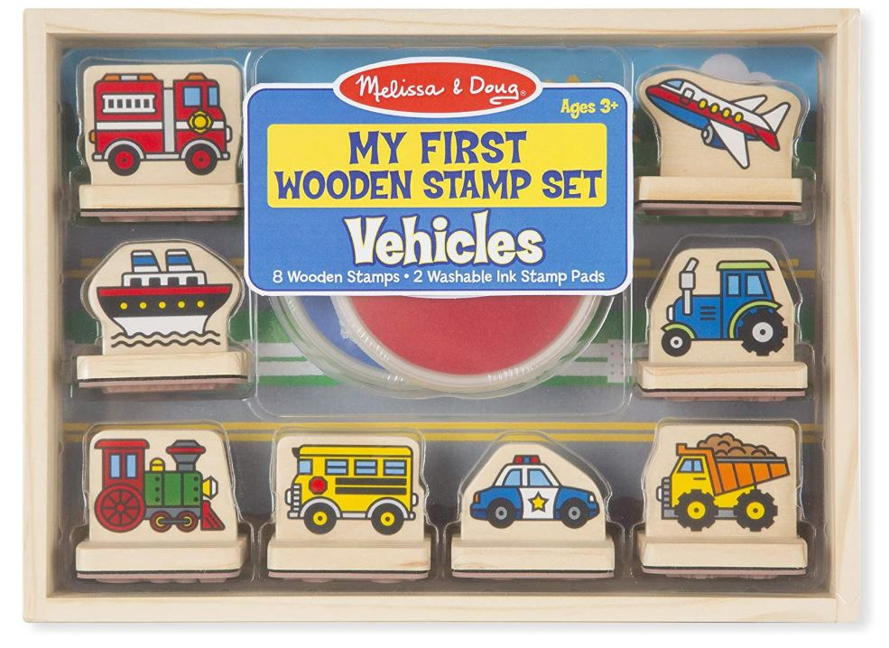Melissa & Doug Wooden Stamp Set