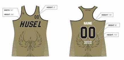 HUSEL Hockey Club - Uniform Top (Gold & Black) Reorder