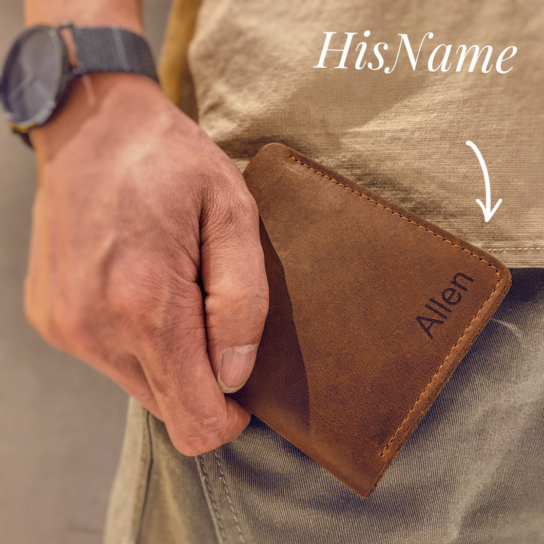 Customized men's leather wallet