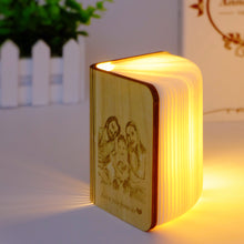 Load image into Gallery viewer, Customized Wooden Book Lamp