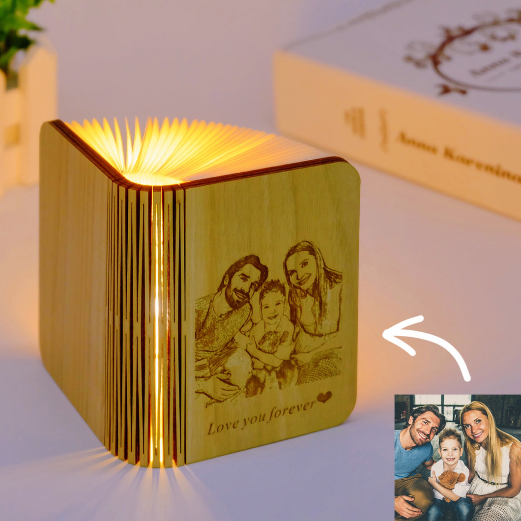 Customized Wooden Book Lamp