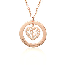Load image into Gallery viewer, Custom Heart Family Tree Necklace