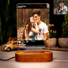 Load image into Gallery viewer, Custom Instagram Style 3D Led Lamp with Photo
