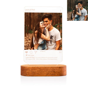 Custom Instagram Style 3D Led Lamp with Photo