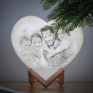 Customized Heart-Shaped Moon Lamp
