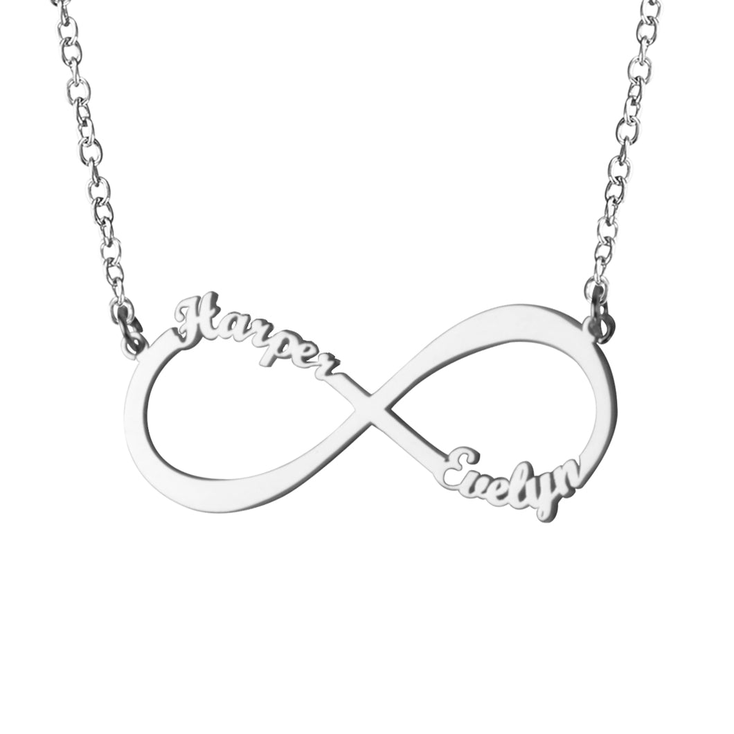 Infinity Name Necklace for Women