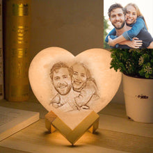 Load image into Gallery viewer, Customized Heart-Shaped Moon Lamp