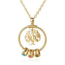 Load image into Gallery viewer, Linda Pendant Necklace with Tree and Birthstone