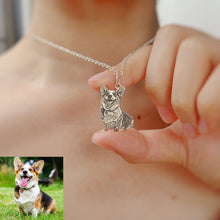 Load image into Gallery viewer, Personalized Photo Necklace Sterling Silver