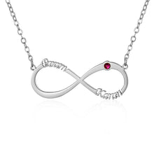 Load image into Gallery viewer, Infinity Name Necklace for Women with lucky stone