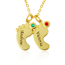 Load image into Gallery viewer, Baby Feet Necklace For Mom