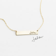 Load image into Gallery viewer, Actual Handwriting Personalized Necklace