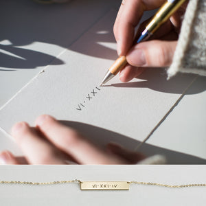 Actual Handwriting Personalized Necklace
