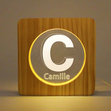 Load image into Gallery viewer, Custom Wooden Name Light