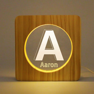 Custom Wooden Name Light