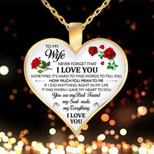 Load image into Gallery viewer, Heart Pendant Necklace Letter To My Wife