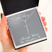Load image into Gallery viewer, Cross Faith Necklace I CAN DO ALL THINGS
