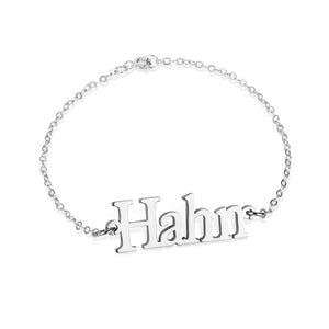 Personalized Ankle Bracelet with Name