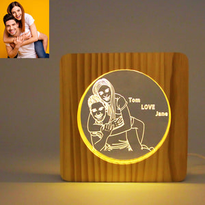 Circle Personalized Photo Frame